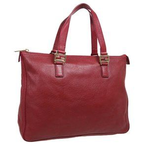 FENDI Logos Hand Bag 2408-8BH138-LPQ-049 Purse Red